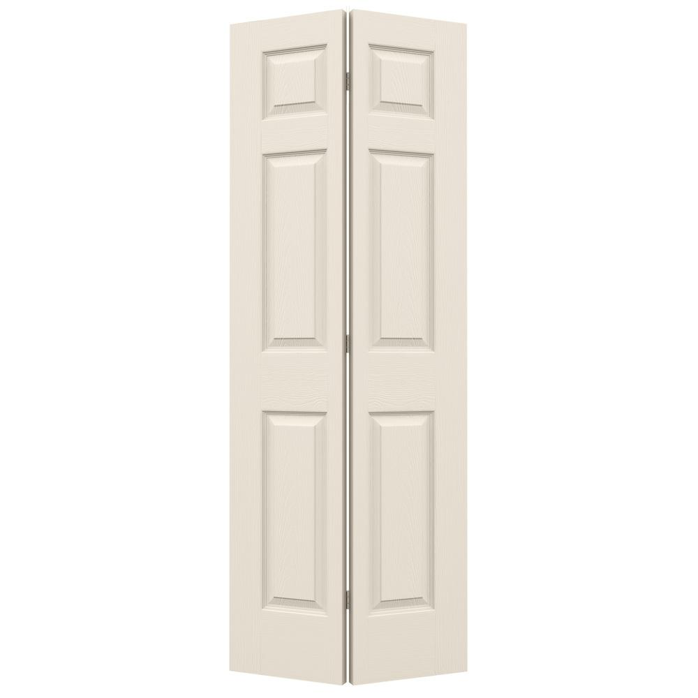 mail.mdmillwork.net  sc 1 st  MD Millwork & 18 in. x 80 in. Colonial Primed Textured Closet Bi-fold Door | MD ...