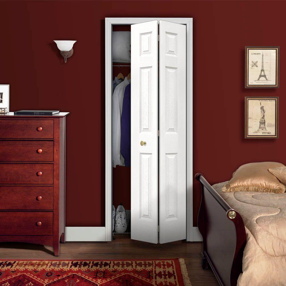 18 In X 80 In Colonial Primed Textured Closet Bi Fold Door Md